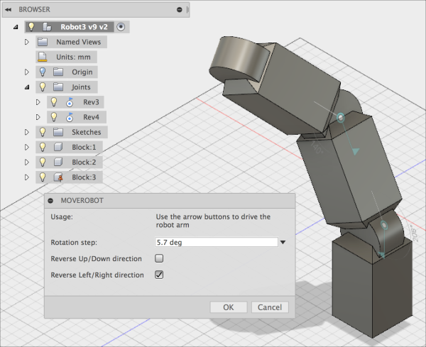 Mod the Machine: Drive robot arm in Fusion - update