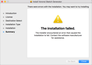 InstallationFailed